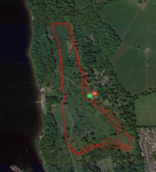 Balloch Park Cross Country Race Route
